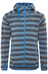 Bergans Humle Jacket Men Deep Sea Striped/Koi Orange